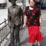 La Trieste, lângă statuia lui James Joyce