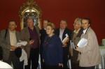 La Conferinţa Naţională a Scriitorilor, Teatrul Naţional, 2009, cu Paul Aretzu, Mircea A. Diaconu, Dumitru Chioaru, Adrian Alui Gheorghe ş.a