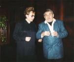 La decernarea premiului pentru poezie al USR-Filiala Timisoara 29 decembrie 1999, pentru volumul Confesor de tigri - cu Şerban Foarţă
