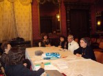 La o şedinţă a PEN-Clubului Român, cu Vasile Andru, Magda Cârneci, Ana Blandiana, Micaela Ghiţescu, Claudia Voiculescu
