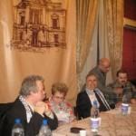Lansare Darwish, cu prof. univ. George Grigore şi ES Mohammad El Dib, Ambasadorul Libanului la Bucureşti şi şef al Consiliului ambasadorilor arabi acreditaţi la Bucureşti