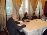 la o şedinţă a PEN-Clubului, 2011, alături de Magda Cârneci şi Constantin Abăluţă