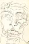 Autoportret în stil grecesc. Creion