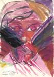 Autoportret în vânt însângerat. Tempera