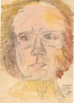 Autoportret inflexibilo-umoristic. Creion şi tempera