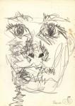 Autoportret labirintic. Creion