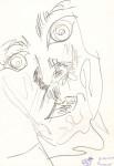 Autoportret transparent. Creion.