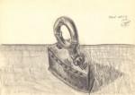 Piglaisul - obiect revolut şi poetic. Creion