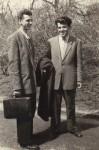 Tata cu un coleg student, în Bucureşti