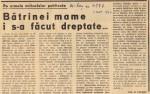 Happy end - rezolvarea cazului ridicat în articolul Bătrâna mamă...
