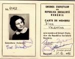 Valentina Dima, legitimaţia de  Uniunea Ziaristilor