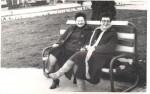 Cu mama, în vizită la Buziaş, la mătuşa