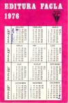 Verso-ul calendarului editat de tatăl meu în 1976