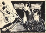 Caricatură alături de Al. Jebeleanu. Semnat de Dan Radu Ionescu
