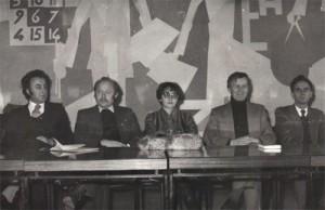 Preşedintă a cenaclului Pavel Dan din Timişoara,1981, cu Livius Ciocârlie, Sorin Titel, Eugen Simion, Anghel Dumbrăveanu