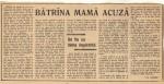 Bătrâna mamă acuză - un articol care a făcut epocă